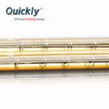 Quartzo de onda curta reflector de ouro de tubo duplo lâmpada por infravermelhos de halogéneo10000W 480V
