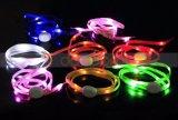 Lumière incandescente Clignotant Luminous LED Flat Shoe Laces Mode Creative Gift LED Shoelaces