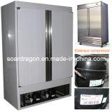 нержавеющая сталь кухня, холодильник с двумя дверьми