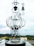 2016의 새로운 디자인 4 로켓트 Recycler 도매가를 가진 유리제 연기가 나는 수관