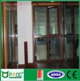 De commerciële Scharnierende Deur van het Aluminium Glas met Aangemaakte Verglazing