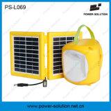 Luz solar da lâmpada da energia portátil do verde da potência do painel solar com o bulbo adicional do diodo emissor de luz