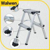 Ladder van de Stap van het Aluminium van het huishouden de Dubbele Vouwbare