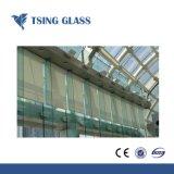 Limpar o vidro temperado com orifícios de vidro temperado / bordas polidas / logotipo / silk-screen