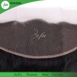 Hot Sale Reine naturelle des cheveux humains brésilien pour Salon frontale