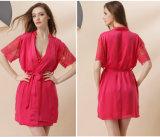 """Pijamas de seda """"sexy"""" Sy10306001 das mulheres por atacado do Nightwear da roupa de noite"""