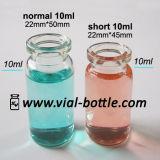8ml Clear Glass Injection Vial Bottles, Short 10ml Vials