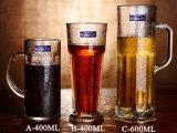 La cuvette de bière en verre de bière en forme de la bière à la verrerie de personnaliser la cuvette de Gibraltar