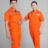 オレンジFlame -抑制Reflective Work Safety Uniform