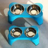 Conjunto de alimentação para animais de estimação Bone-Shaped Tabela com câmara dupla