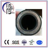 Fabriqué dans le boyau hydraulique en caoutchouc tressé à haute pression de fil d'acier de type de la Chine Techmalflex