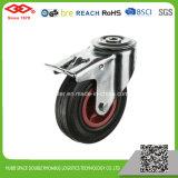 rotella di gomma nera della macchina per colata continua del foro del bullone di 200mm (G102-31D200X50)
