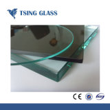 12mm/dépoli clair/verre trempé de couleur pour les rampes/Porte/clôture/mur-rideau