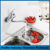 Dissipateur à montage mural Robinets d'eau froide Nickel brosse le robinet de cuisine en acier inoxydable