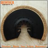 振動の動力工具のアクセサリのフラッシュ炭化物の屑の半円の刃