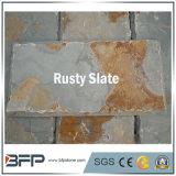 Pizarra oxidada Natural Fachada de azulejos para techo, revestimiento de pared exterior