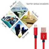 Tela de nylon Trenzado Micro USB a cable USB Cable de carga de transferencia de datos