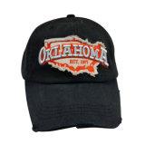 Lavado pesado gorra de béisbol con fieltro aplique Gjwd1753