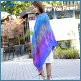 Обруч шалей вышивки шарфа хлопка женщин Linen утончает мягко