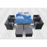 Juego de comedor muebles de mimbre para exteriores con 4 plazas (8219)