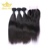 Cheveux raides Bundle 100% naturels dans les cheveux de l'homme de couleur noire
