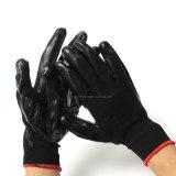 Стороны Proctive черный нитриловые покрытие черного полиэстера вязаные 13 указатели перчатки
