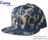 Sombrero del dril de algodón con el sombrero del casquillo del Snapback de la insignia de Metaill