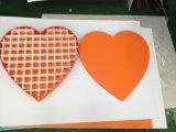 Caixa de presente nova do papel do cartão do chocolate da forma do coração da forma
