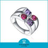 Chapado en rodio 2016 Nuevo Diseño de joyas de plata de los anillos (R-0428)