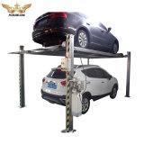 O equipamento do sistema de elevação de estacionamento 4 colunas tipo hidráulico do cilindro duplo
