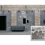 Tarjeta del panel decorativa de pared del cequi del PVC del precio para la casa delantera