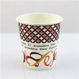 Logotipo Printed Disposable Paper Coffee Cups com Cover