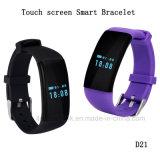 스포츠 소맷동 Bluetooth 또는 방수와 심박수 D21를 가진 지능적인 팔찌