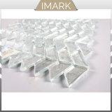 Mosaicos de vidro branco para parede de azulejos e pisos com azulejos decorativos