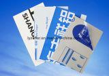 La publicité du film adhésif de vinyle en plastique clair décoratif d'application