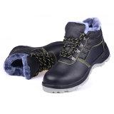 働くことのための浮彫りにされた牛革鋼鉄つま先の安全靴