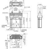Mann des HDMI Kabel-1.4V zum männlichen Kabelfernsehen-Kabel
