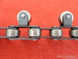 Correntes transportadoras do rolo do lado do aço plástico e inoxidável ou do rolo da parte superior