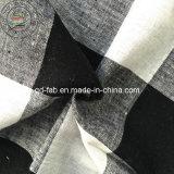 Tecido tingido de fios de linho / algodão (QF13-0760)