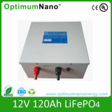 太陽系のためのUn38.3によって証明される12V 120ah LiFePO4電池