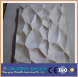 Placas do MDF da onda da decoração 3D da casa