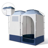 携帯用避難所のキャンプの変更の洗面所部屋のカムフラージュの屋外のプライバシーの防水容易シャワーのテントを開く