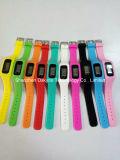 regalo de promoción reloj de pulsera de silicona podómetro