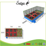 Indoor Jump Safety Kid Trampoline Park Set avec Foam Pit
