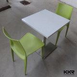 아크릴 돌 백색 4 의자 식탁