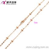 Collana popolare dell'uomo di colore dell'oro della Rosa (42386)