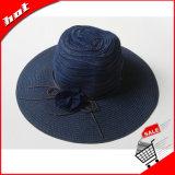 Sombrero de la manera de Sun de la paja del papel de paja de las mujeres