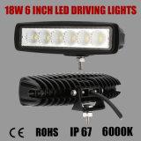 6 pulgadas 18W Bridgelux LED que conducen la luz con 1080lm