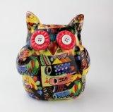 Buho de cerámica animal Paintable al por mayor del rectángulo de dinero del diseño