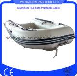 Bateaux gonflables soudés chauds faits à l'usine de côte de PVC de coque en aluminium de couture